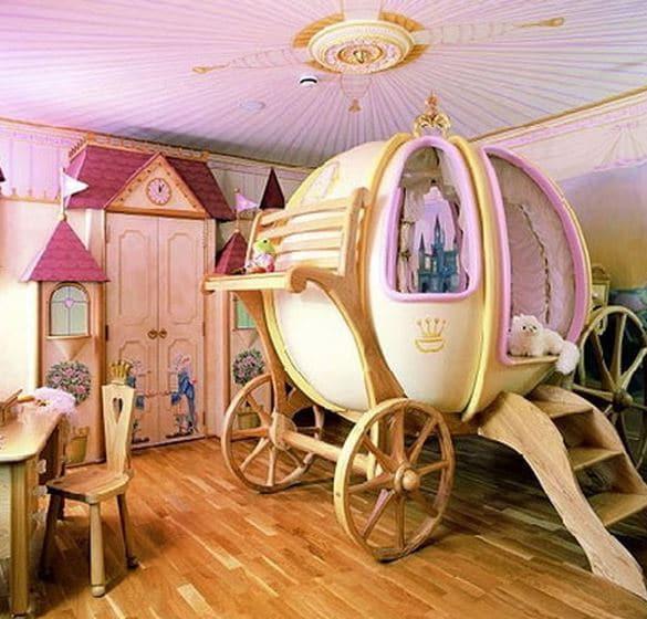 Disney bedrooms Cinderella carriage
